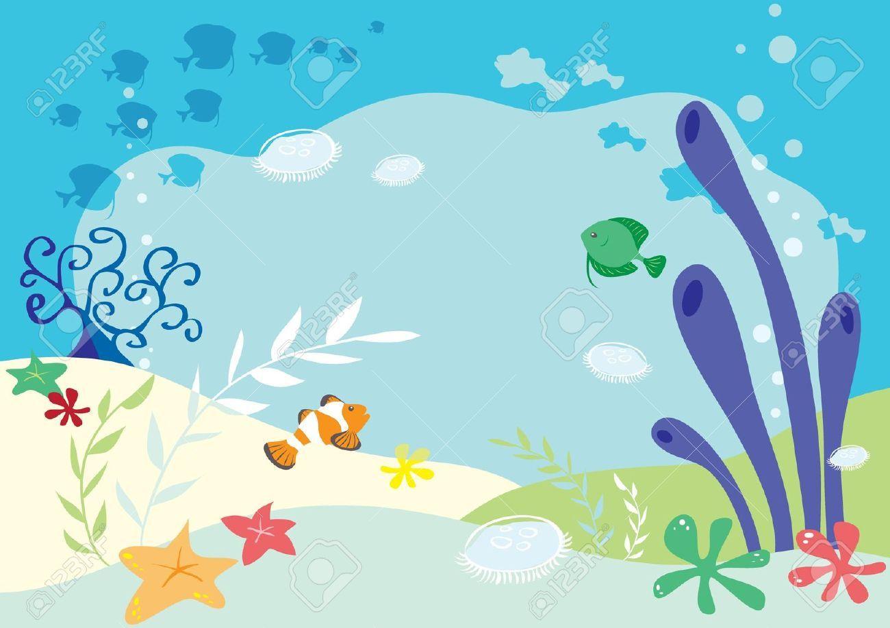 Undersea Background Textured Background Illustration Background Clipart