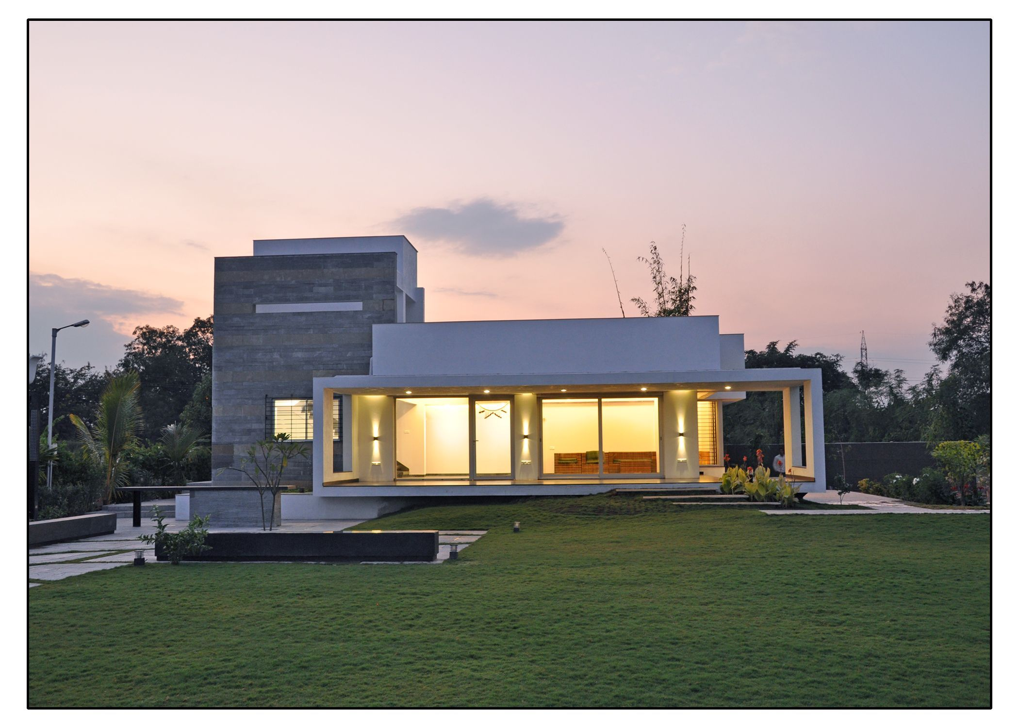 Architecture and interior design projects in India - Weekend Home ... for Indian Farmhouse Designs  565ane