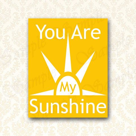 Kids Room Wall Decor You Are My Sunshine by JusPrintables on Etsy ...