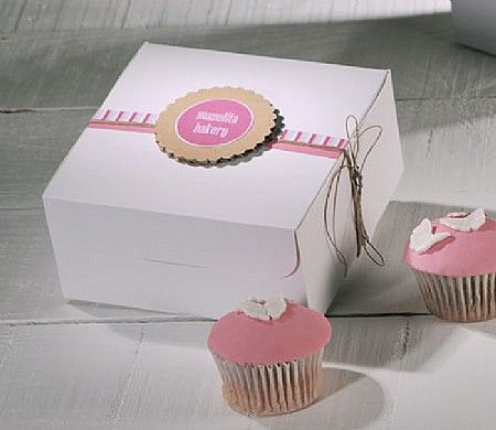 Decorative Cupcake Boxes 4 Cupcakes Pack 2214_L  Packaging  Pinterest  Cupcake Boxes And