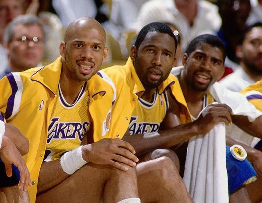 Or The Lakers In The 80s So Worthy I 39 M Kareem Still Standing Showtime Lakers Magic Johnson Lakers Nba Legends