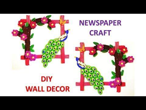 DIY Newspaper Wall Hanging | Newspaper Craft | Wall Decor Frame ...