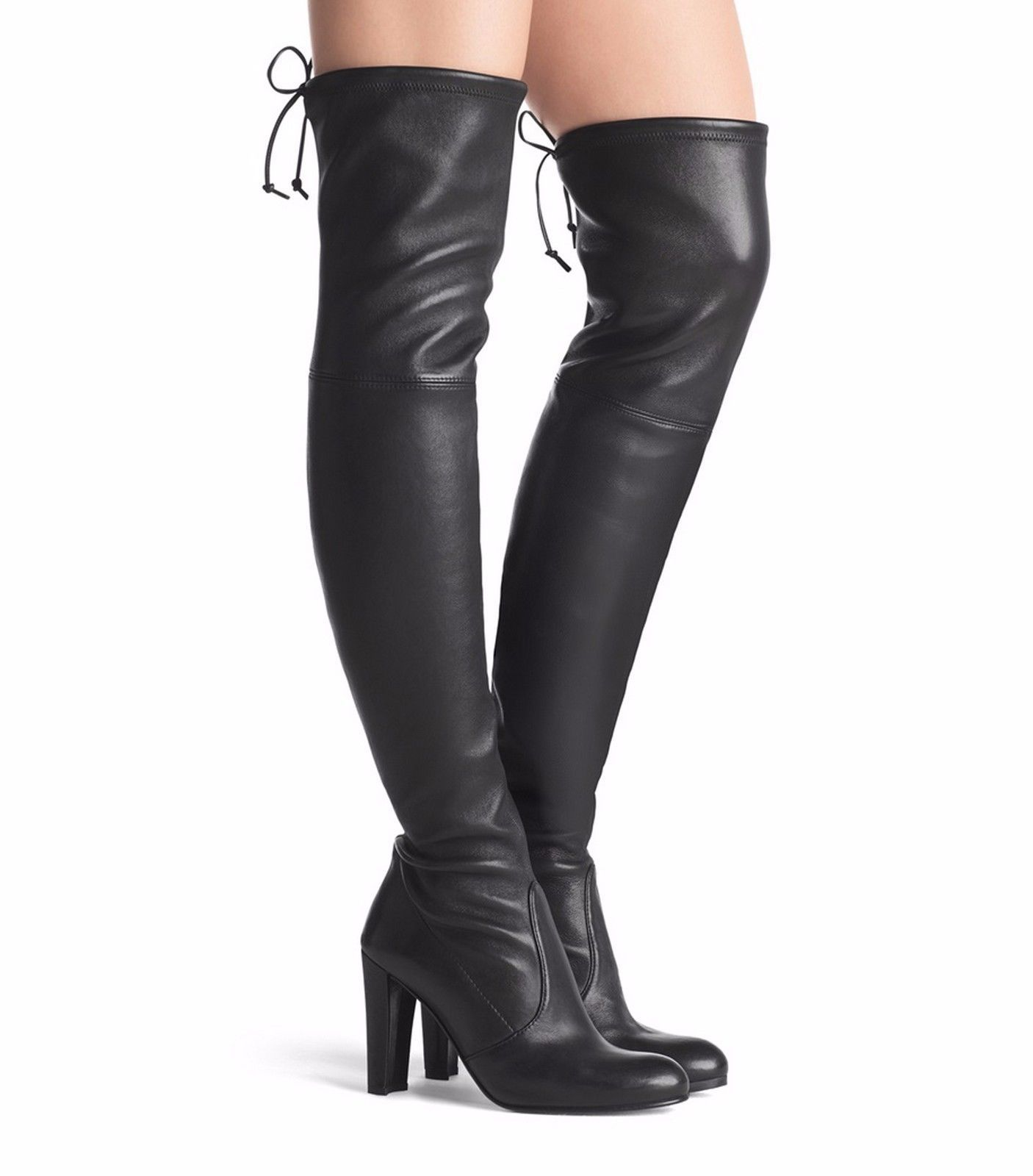 NEW Stuart Weitzman Highland leather over-the-knee boot Shoe, Black, US 10,  $875