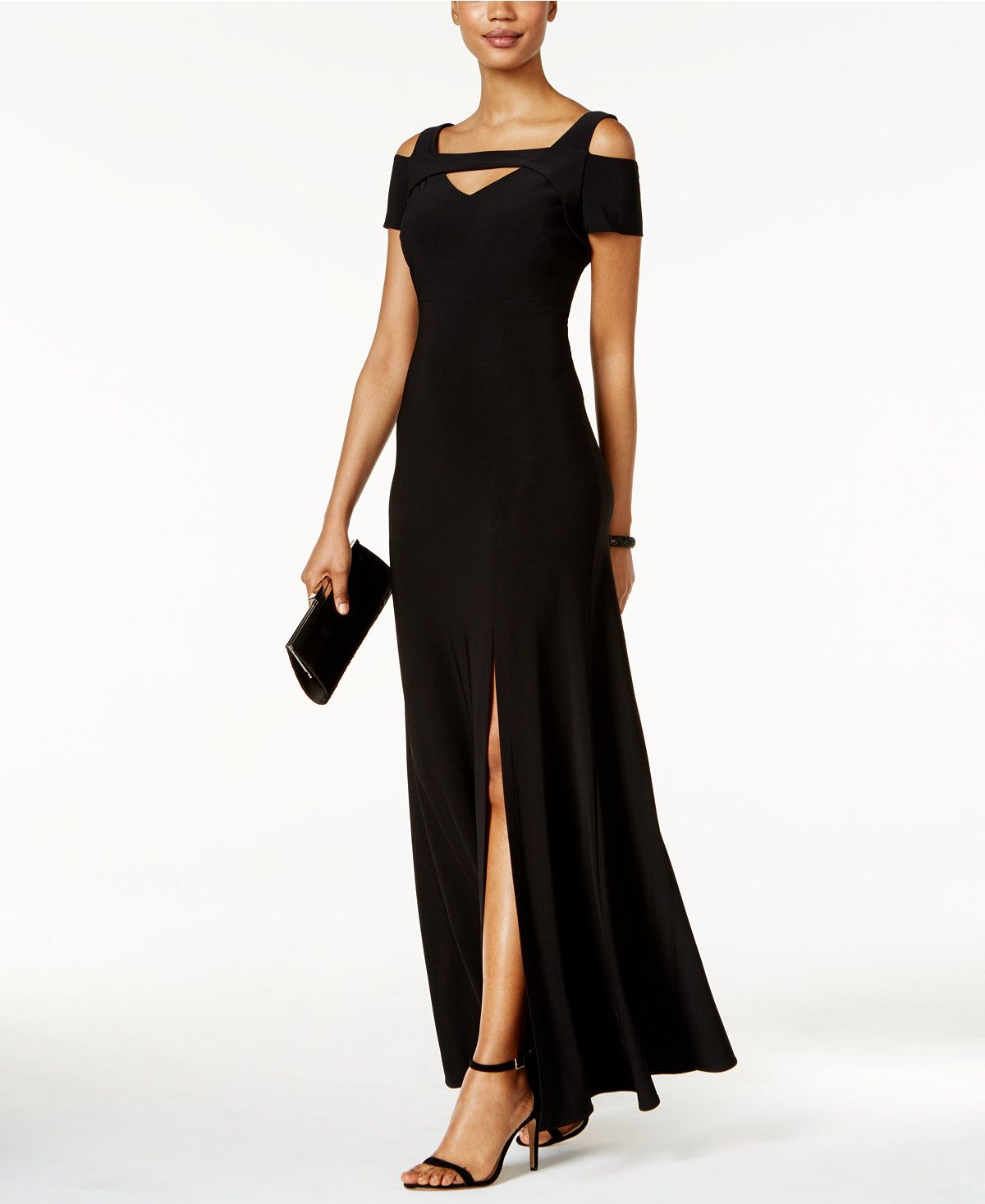 Nightway coldshoulder keyhole gown cold shoulder tie dress and gowns