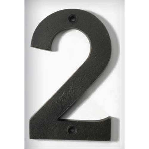 Bronze Patina 4 Inch House Number Two House Numbers Bronze House House Number Plaque