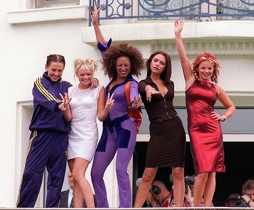 Spice Girls in the Cannes Film Festival in the 90's