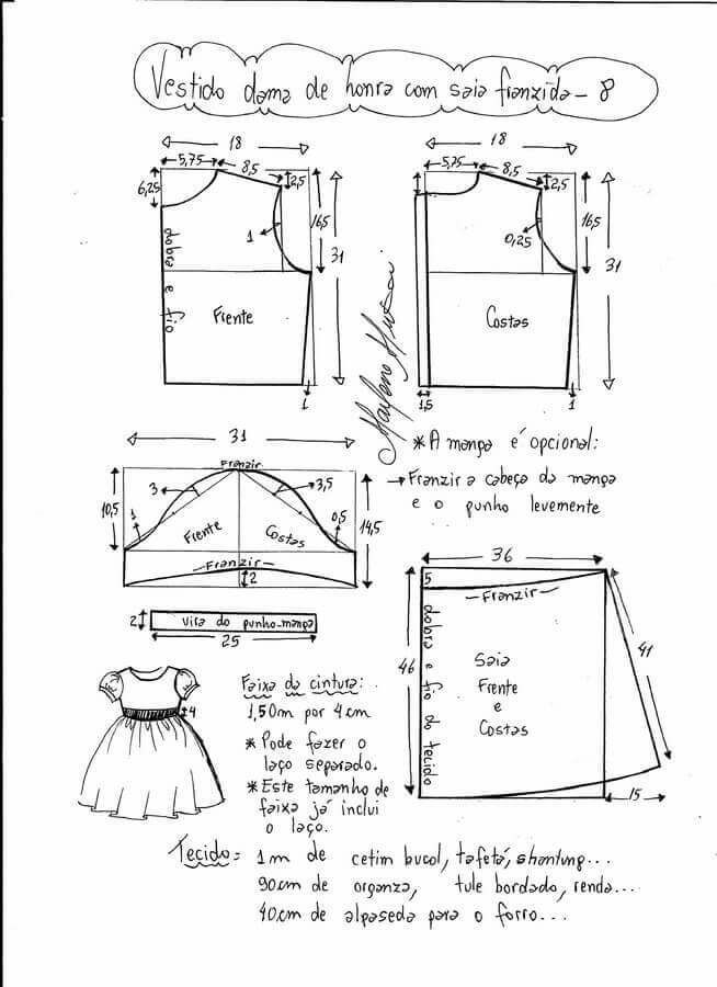 Pin de Ana M Wills en Vestidos de niñas | Baby dress patterns ...