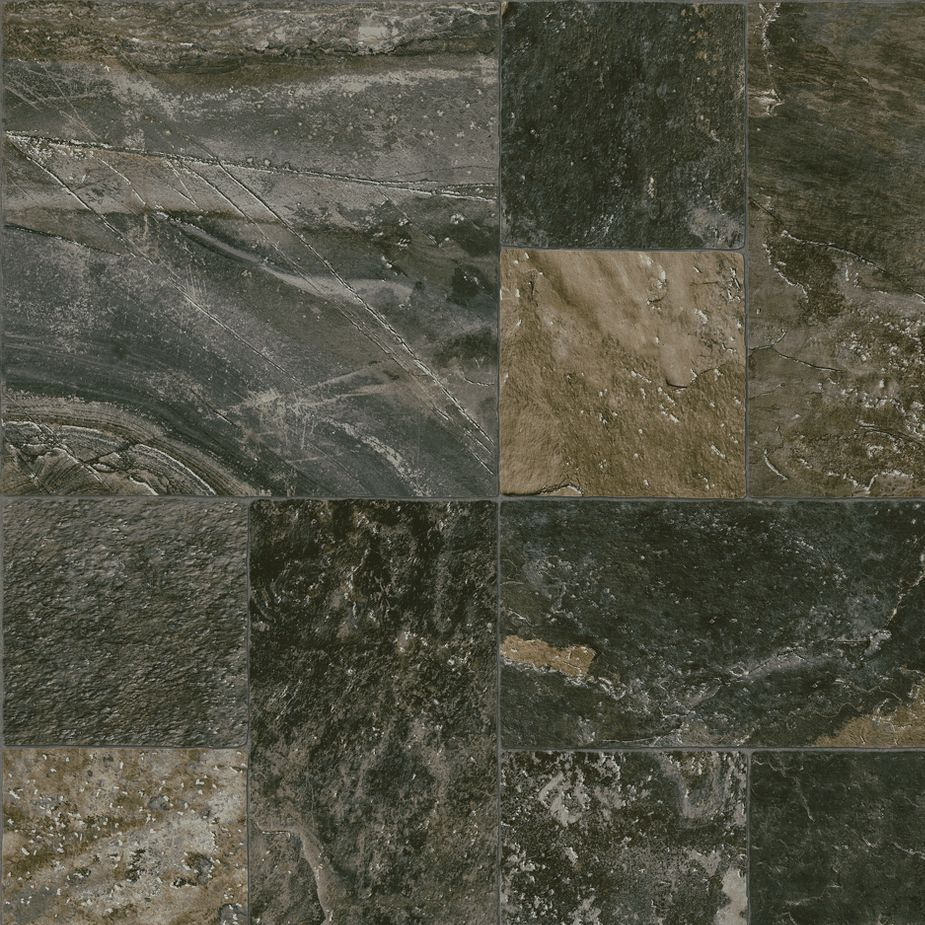 Care Free Sheet Vinyl Flooring Is Perfect For Kitchens It: Eagle Rock - Chimney Ash