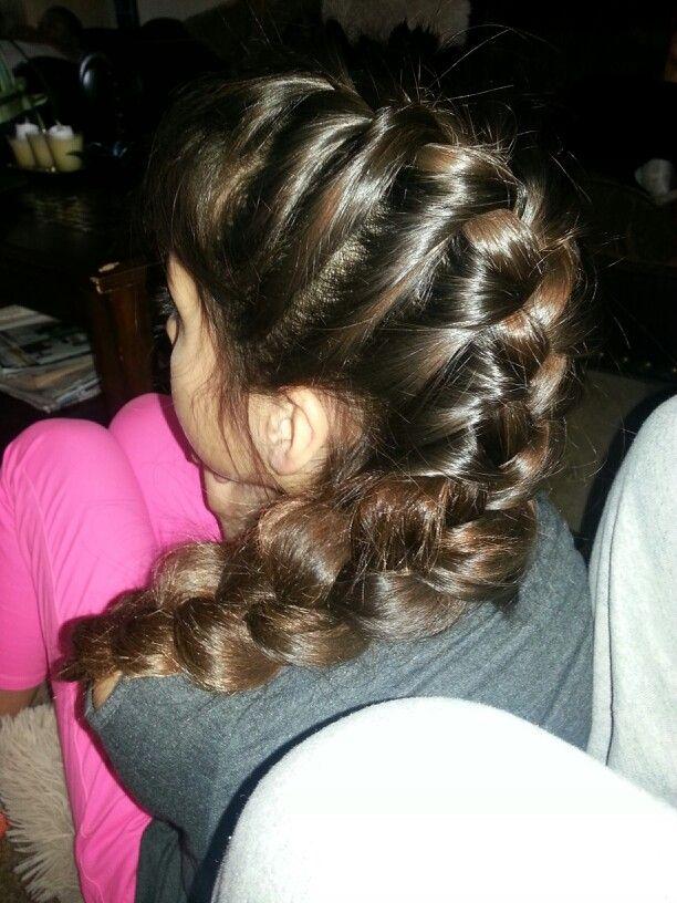 Did my lil cousins hair lol