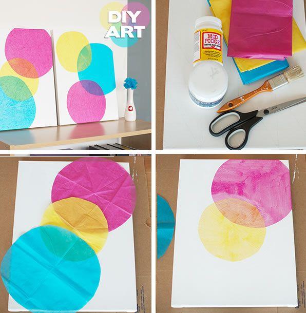 7 formas creativas de hacer tus propios cuadros - Manualidades con cuadros ...