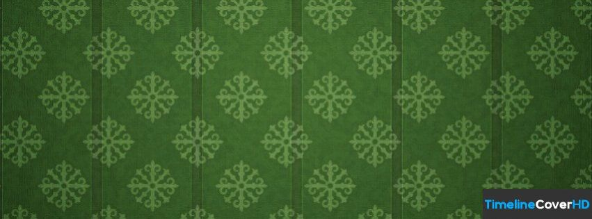 Green Snowflake Pattern Facebook Cover Timeline Banner For Fb Facebook Cover