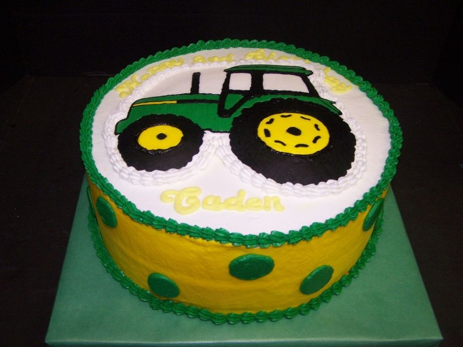 john deere cakes for kids John Deere Birthday Jase party
