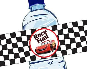 DIGITAL FILE Cars Bottle Labels Disney Cars by CuteInvitation1