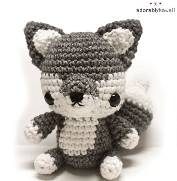Baby Wolf Amigurumi Pattern Woodland Animal par adorablykawaii