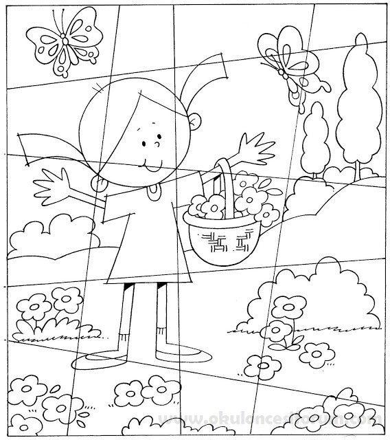 Bir Ilkbahar Puzzle Yapalim Boyama Sayfalari Okul Oncesi Ve Okul