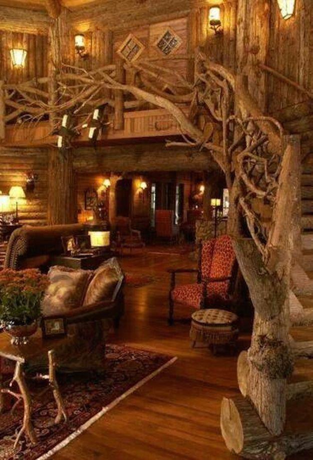 Casa del arbol por dentro salon pinterest casa del arbol el arbol y casas - Casas rusticas por dentro ...
