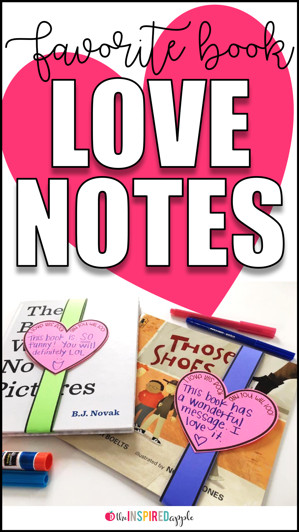 Book Report Alternative Favorite Book Love Notes