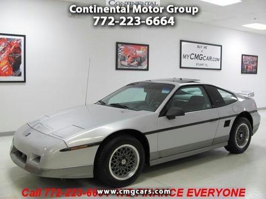 Cars For Sale 1987 Pontiac Fiero GT In Stuart FL 34994 Coupe Details