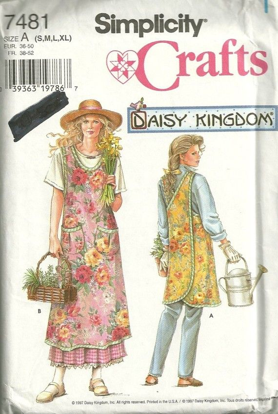 Simplicity 7481 Misses Wrap Around Apron Pattern Criss