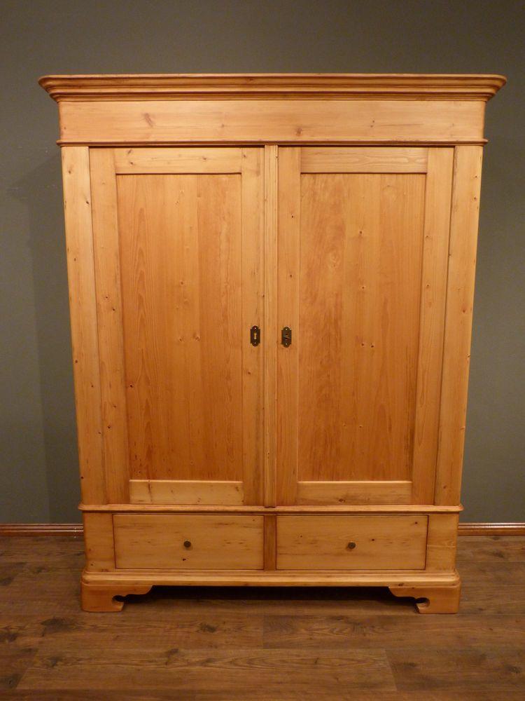 Details zu Antiker Kleiderschrank Barockstil um 1850 / Holzschrank ...