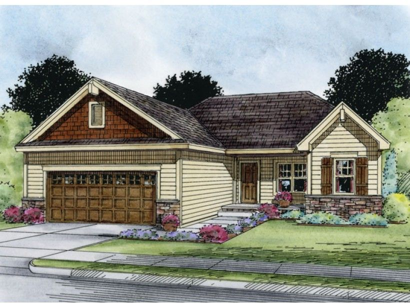 Eplans ranch house plan three bedroom craftsman ranch 1373 square feet and 3 bedrooms