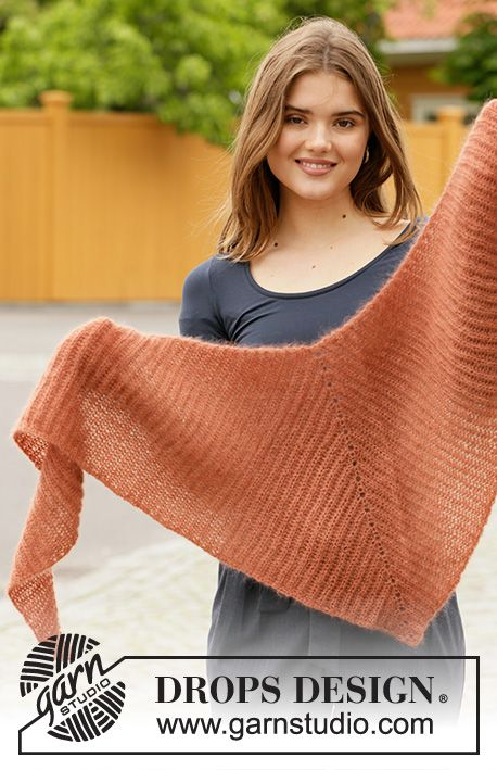 Burning Leaves / DROPS 204-3 - Free knitting patterns by DROPS Design