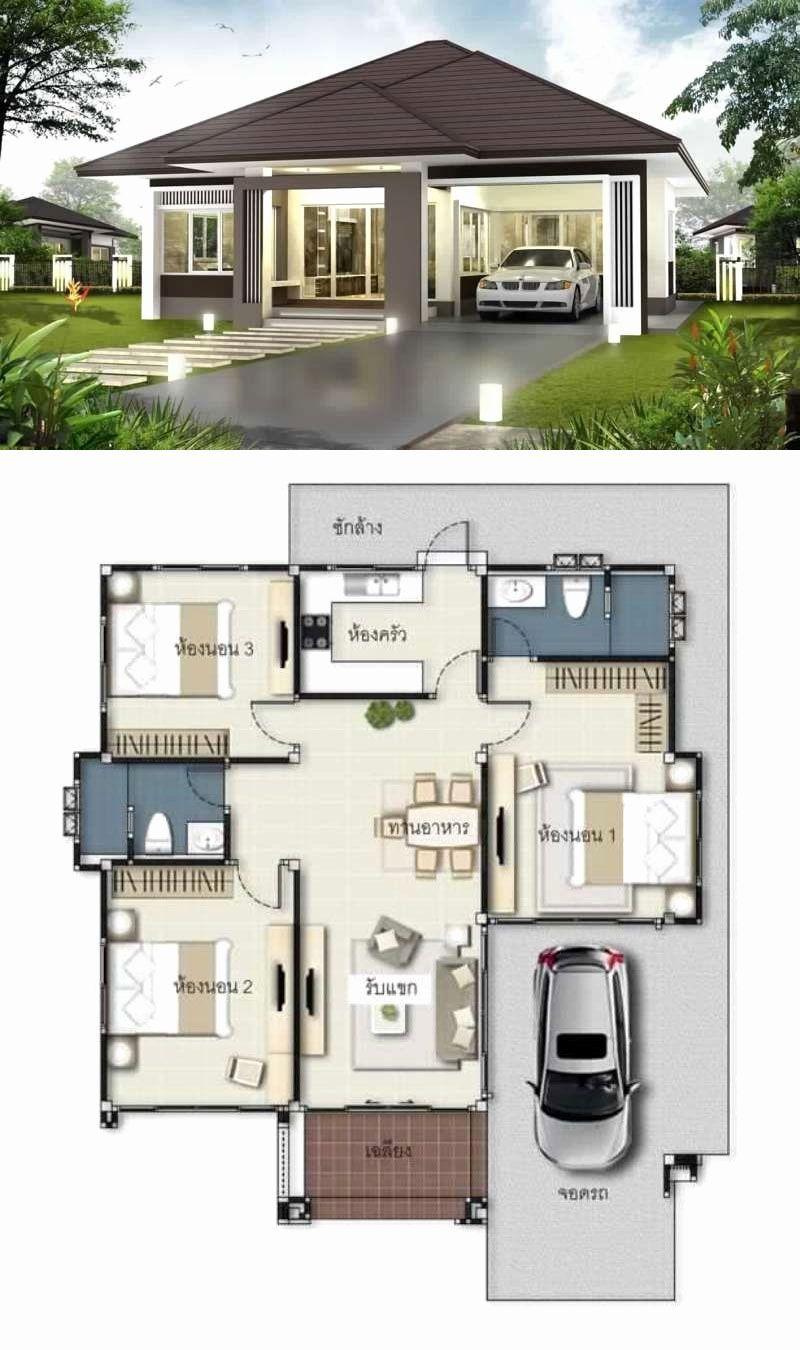 Contemporary Bungalow House Plans Inspirational Bungalow Moderne Zeitgenossische E Modern Bungalow House Design Single Floor House Design Modern Bungalow House