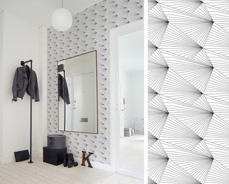 papier peint erica wakerly fan inside pinterest white walls wall design et wallpaper. Black Bedroom Furniture Sets. Home Design Ideas