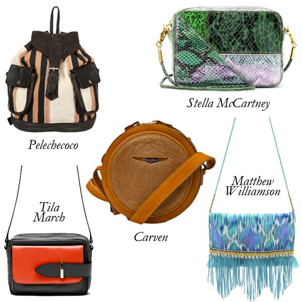 Top 5 Music Festival Bags Pelechecoco Recycled Fabric Leather Backpack Stella Mccartney Snake