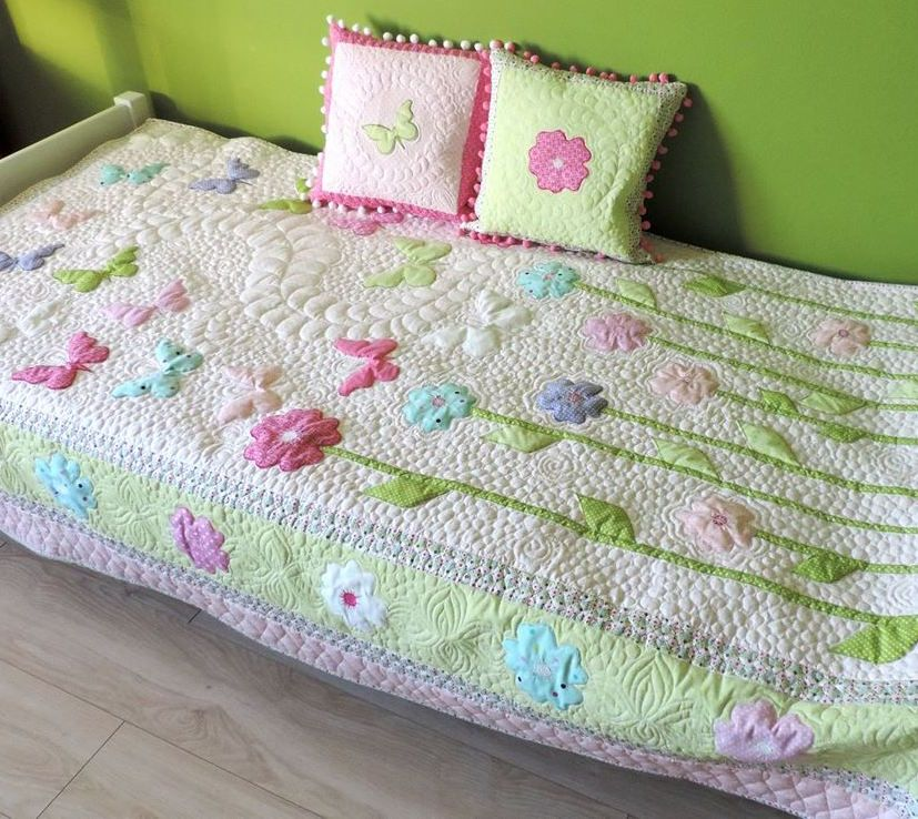 Toddler Girl Quilt - Homemade Quilt - Butterfly Quilt Patchwork ... : patchwork quilt twin - Adamdwight.com