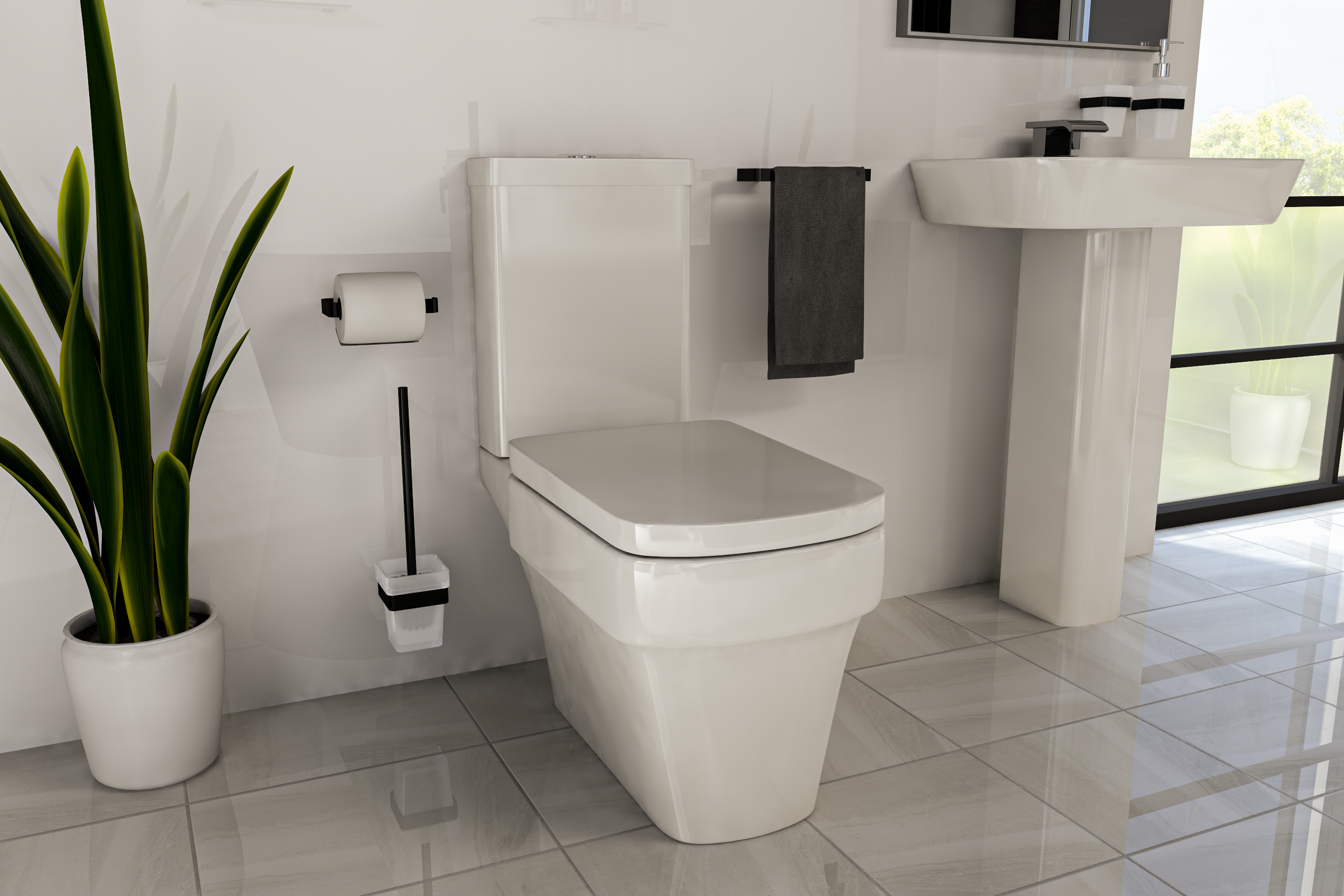 A Wall Mounted Toilet Brush Yes Please Wholesaledomesticbathrooms Toiletbrushideas Toiletbrush Blackbathro In 2020 Wall Mounted Toilet Black Walls Toilet Brush