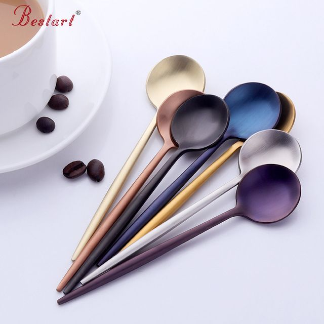 7-pcs Korean Style Colorful Small Tea Spoon Dinnerware Set 18/10 Stainless Steel & 7-pcs Korean Style Colorful Small Tea Spoon Dinnerware Set 18/10 ...