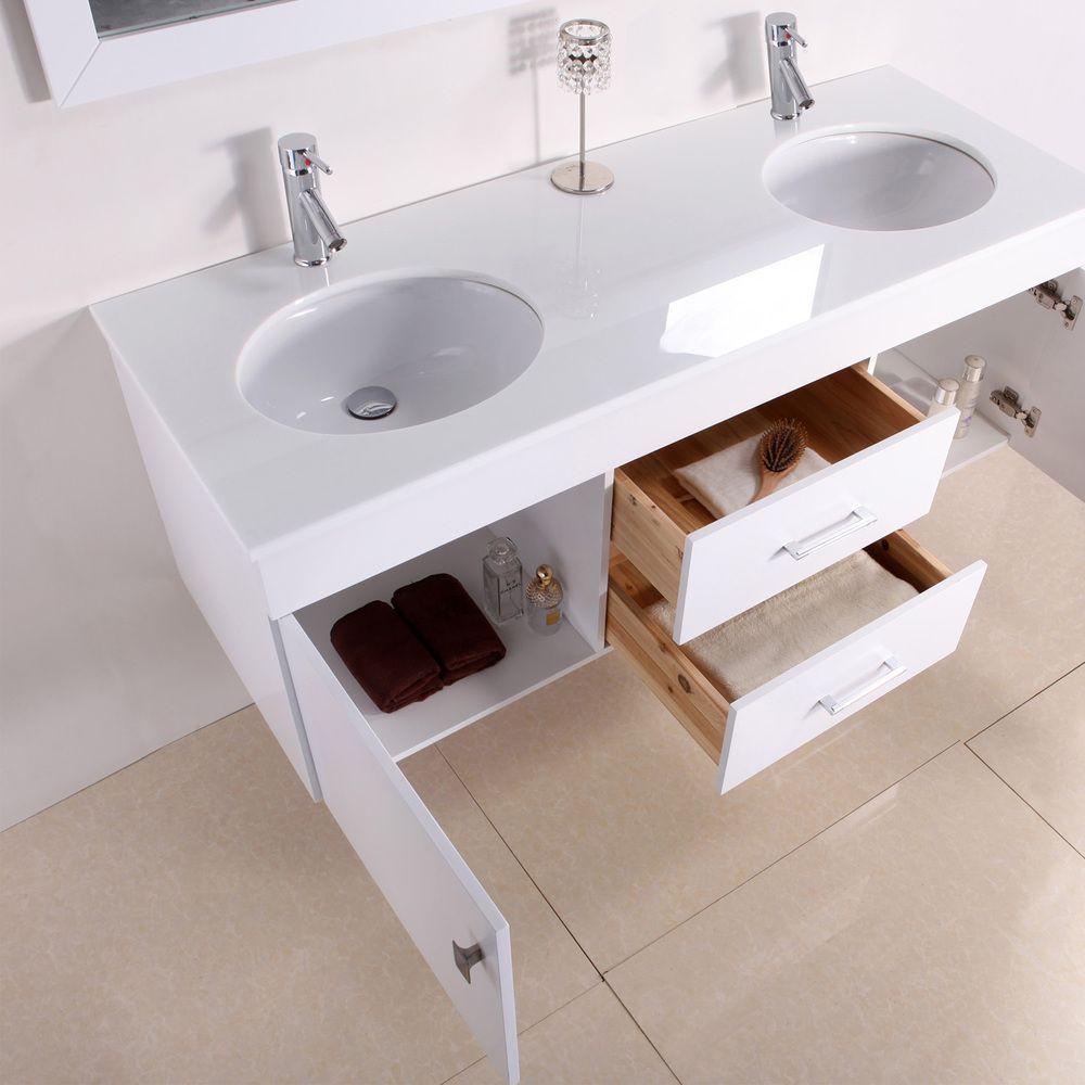 Alyssa 56 Inch Double Sink Vanity Set By Virtu Usa