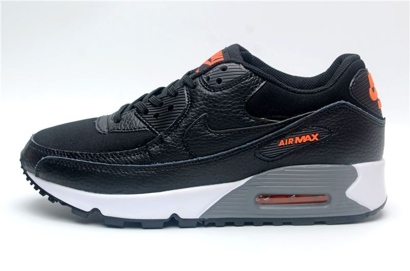Men S Women S Nike Air Max 90 Essential Shoes Black Orange Grey In