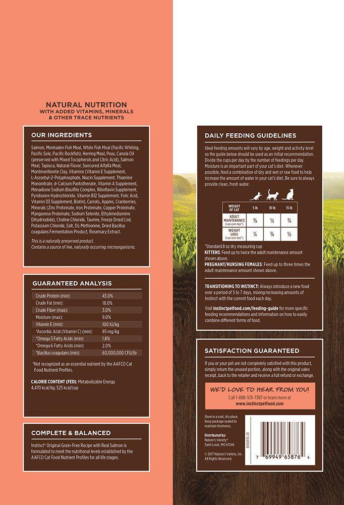 Instinct Original Grain Free Recipe with Real Salmon