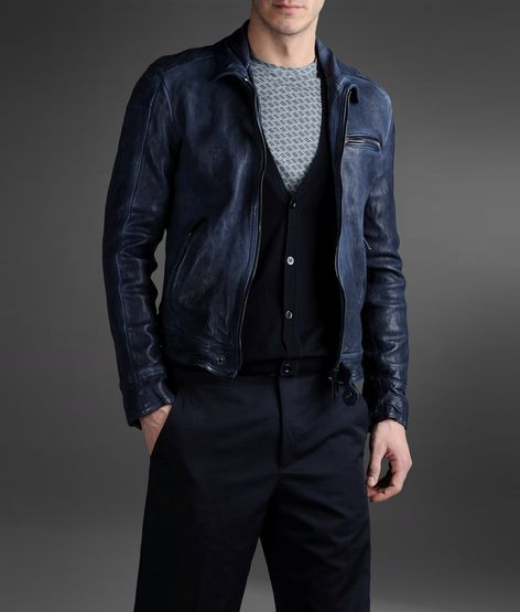 Emporio Armani - Official Online Store Men Leather jacket   Fashion ... d5ac42b3386
