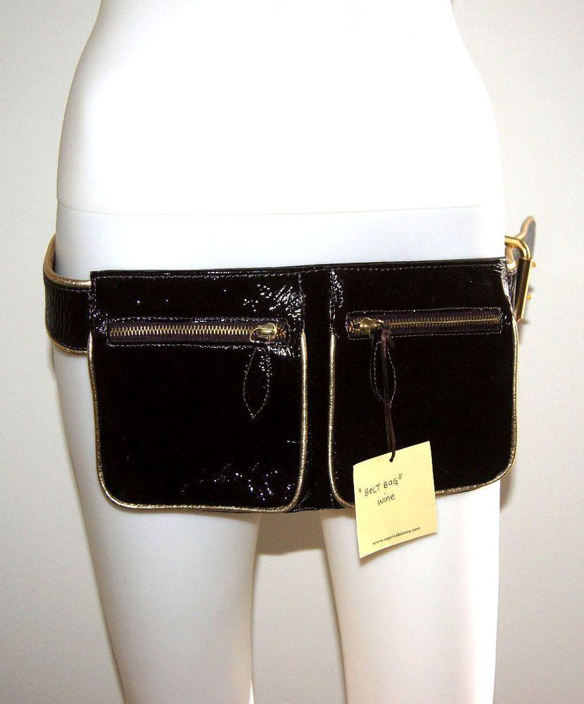 BELT BAG WAIST BAG WALLET NWT CAPRICE DESIGNER'S WINE LEATHER GOLD $695 #CAPRICEBIANCA #BELTBAG