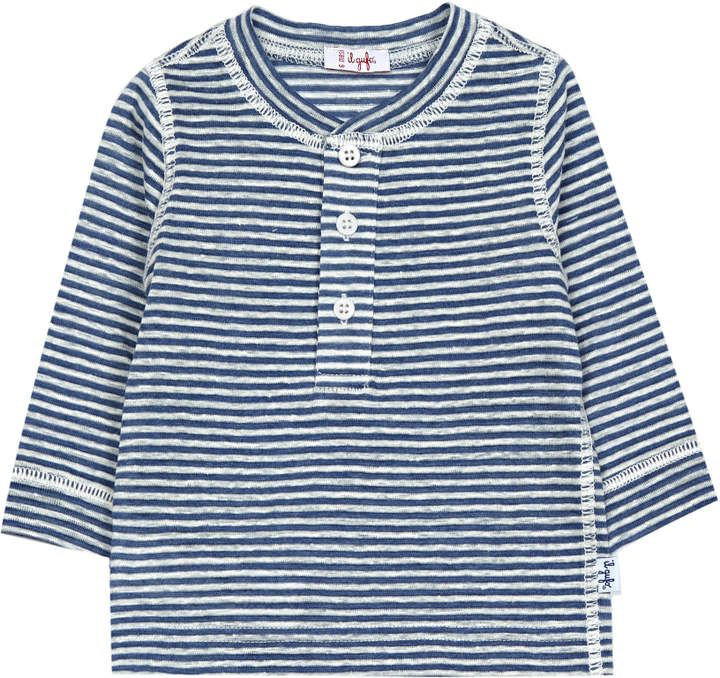 Sale - Stripe Buttoned Officer Collar T-Shirt - Il Gufo Il Gufo Extremely Online LMQbp