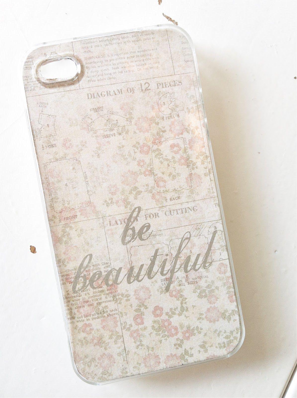 24 Homes: iPhone Case! Om te printen en in een doorzichte case te schuiven! Je eigen brocante smartphone, wat slim!