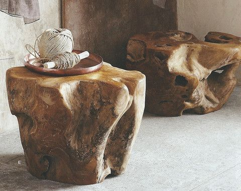 roost teak root table absolutely stunning unique wooden rh pinterest com