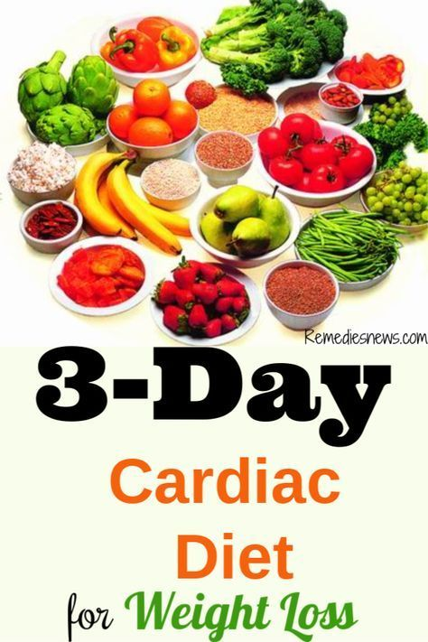 Cardiac Diet Recipes for Weight Loss  3Day Cardiac Diet Lose 10 Pounds in 3 D  Beauty  Beyond