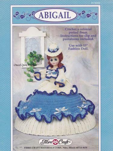Abigail Fibre Craft Crochet Pattern Booklet Fcm332 Colonial Period