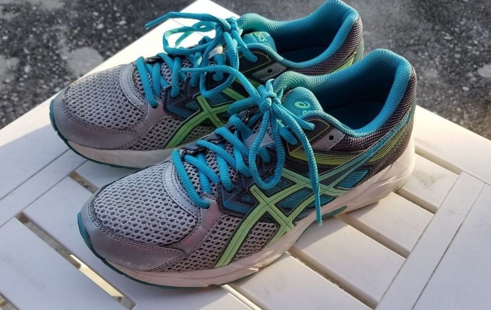 ASICS GEL CONTEND 3 Women's Running Shoe Silver/Aqua #T5F9N *US ...