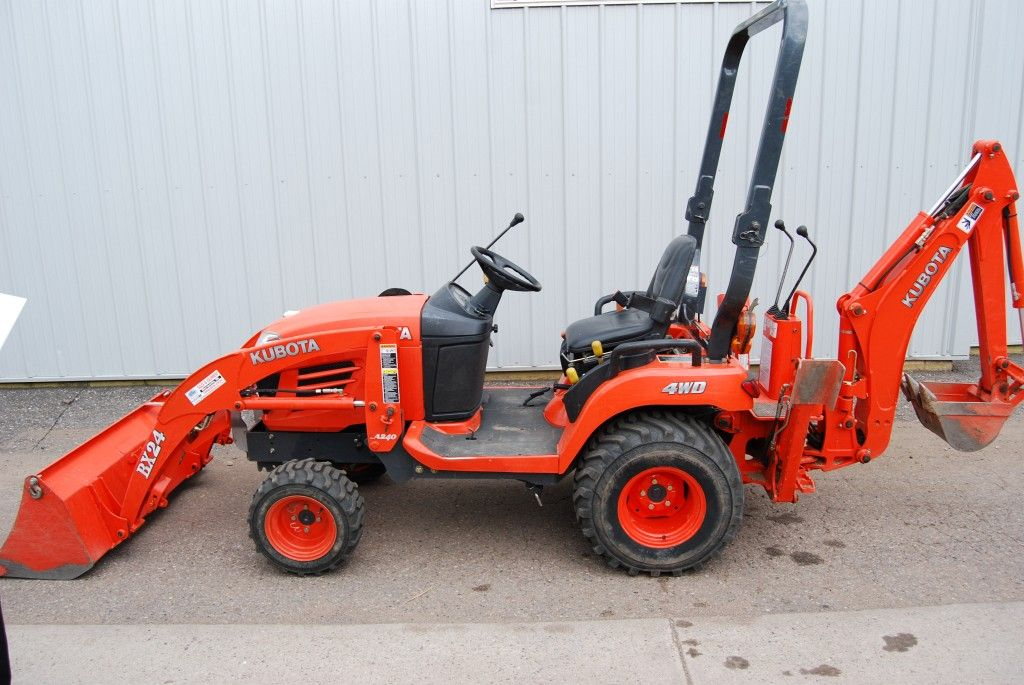 Kubota Mower Accessories : Used kubota bx tractor with attachments included