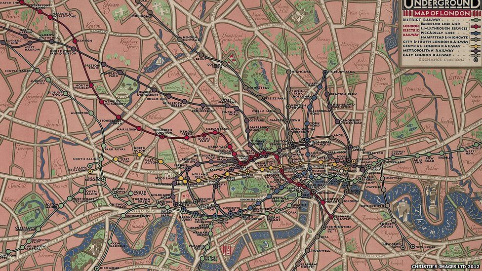 Vintage Underground Map In pictures Vintage Tube