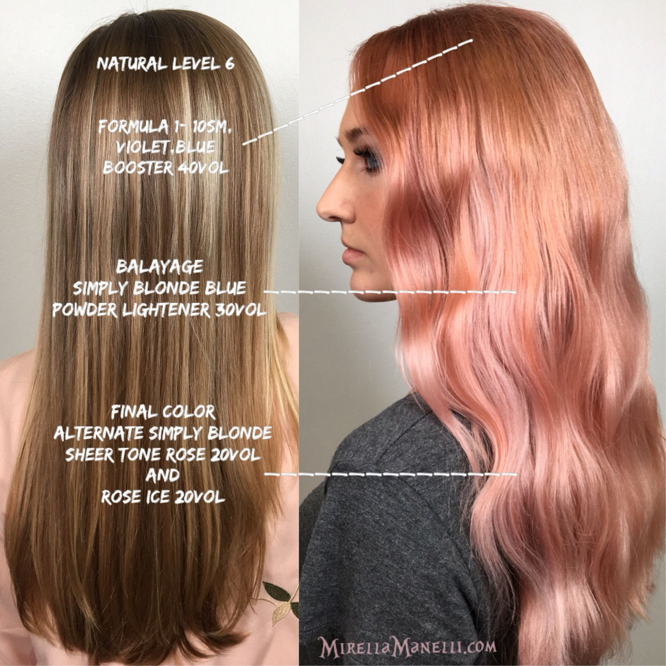 Kenra Simply Blonde With Rose Gold Hair Color Formulation And Step By Tutorial