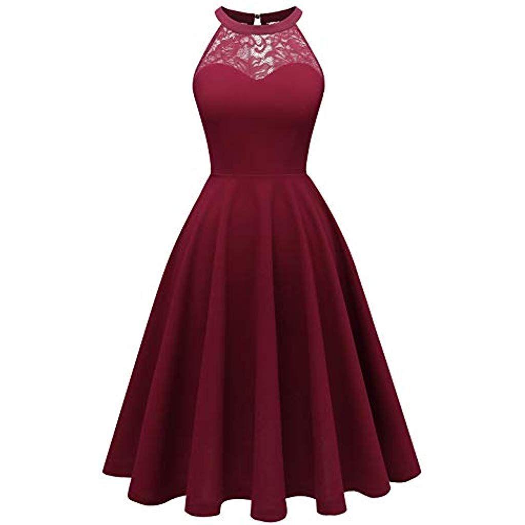 Damen Vintage Off The Shoulder Swing Kleider der 1950er Jahre Party Cocktail Abendkleider