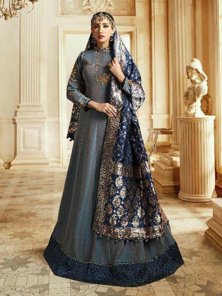 6cd5d7704df  wedding wear  Designer  embroidered  Stylish  Indian  ethnic  Party wear   Anarkali  Suit  Shoppingover  SalwarKameez