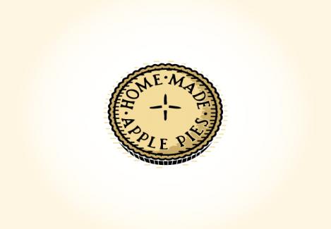 Home Made Apple Pies Retro Logo