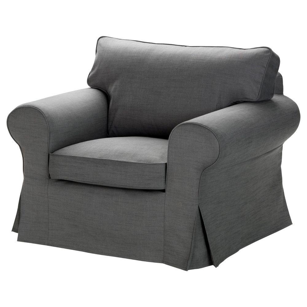 Ikea Ektorp Chair Cover Armchair Slipcover Svanby Gray 501 751 77